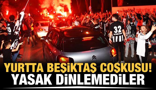 Beşiktaşlı taraftarlar yasak dinlemedi!