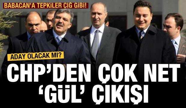 CHP: Gül'ün yeniden adaylığı imkansız!