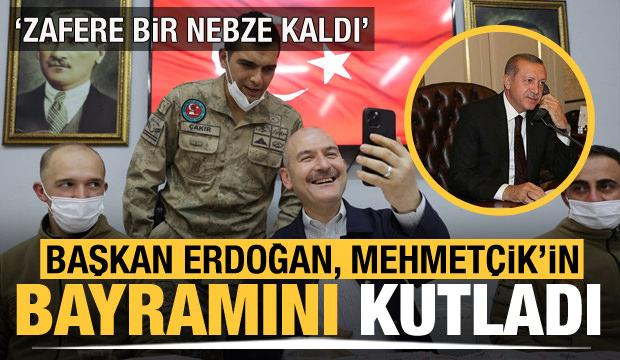 Cumhurbaşkanı Erdoğan, Düztepe Üs Bölgesi'ndeki askerlerin bayramını kutladı