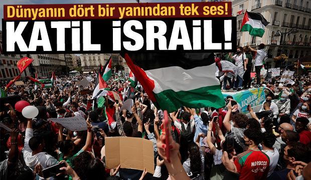 Dünyanın dört bir yanından tek ses! Katil İsrail!