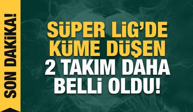 Erzurumspor ve Ankaragücü küme düştü!