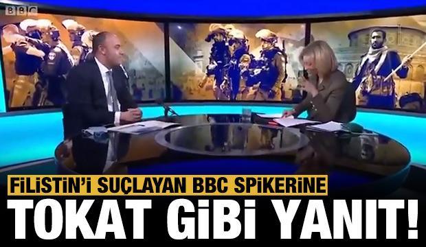 Filistin yöneticisinden BBC muhabirine tokat gibi yanıtlar!