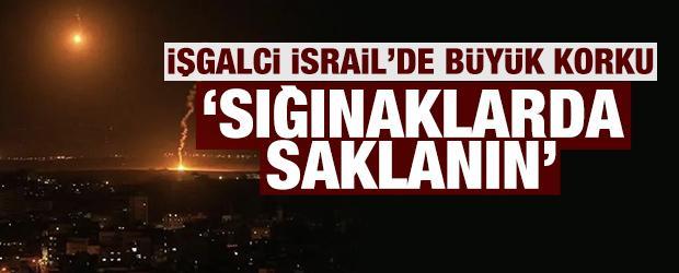 İşgalci İsrail'de büyük korku: Herkes sığınaklara saklansın