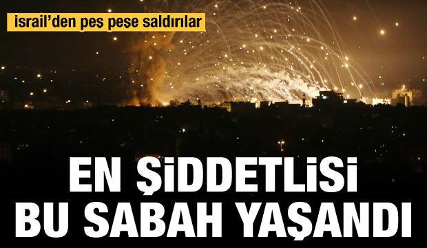 İsrail  Gazze'deki güvenlik merkezlerini yoğun bombardımana tuttu
