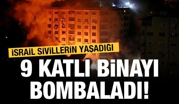İsrail sivillerin yaşadığı binayı vurdu