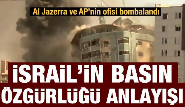 İsrail uçakları Al Jazerra ve AP'nin ofislerini bombaladı