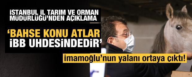 İstanbul İl Tarım ve Orman Müdürlüğü'nden İBB Başkanı'na yalanlama!