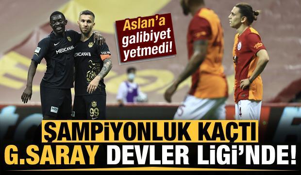 Şampiyonluk kaçtı! Galatasaray Devler Ligi'nde