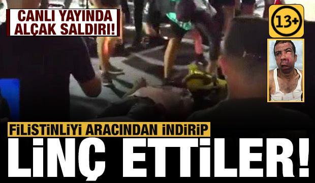 Siyonistler Filistinli bir kişiyi aracından indirip linç etti!