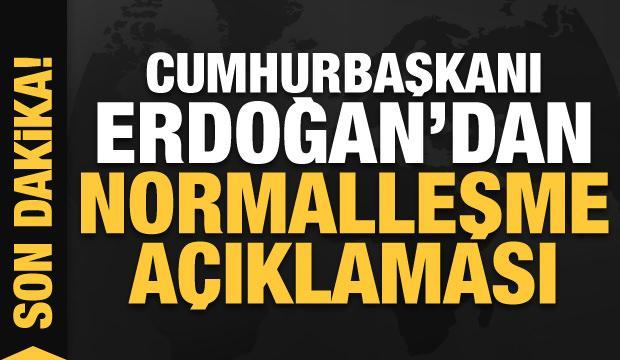 Son dakika: Cumhurbaşkanı Erdoğan'dan bayram sonrası normalleşme açıklaması