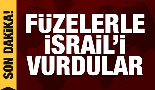 Son Dakika Haberi: Füzelerle İsrail'i vurdular