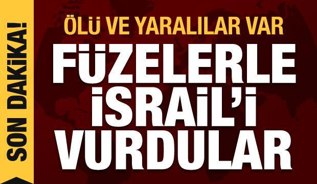Son Dakika Haberi: Füzelerle İsrail'i vurdular, ölü ve yaralılar var