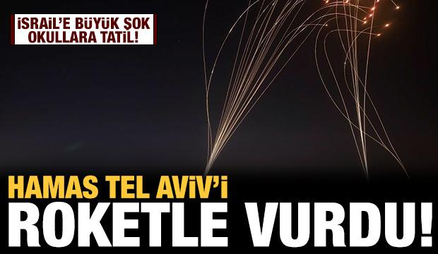 Son dakika: Hamas Tel Aviv'i roketle vurdu!