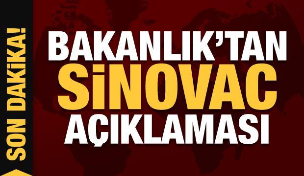 Son dakika: Sağlık Bakanlığı'ndan 'Sinovac' açıklaması!