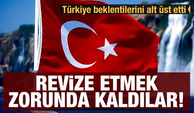 Türkiye beklentilerini alt üst etti! Rakamları yine revize ettiler