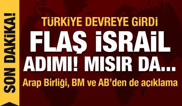 Türkiye ile Mısır'dan İsrail görüşmesi! Arap Birliği, BM ve AB'den açıklama