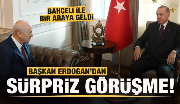 Başkan Erdoğan'dan sürpriz görüşme!