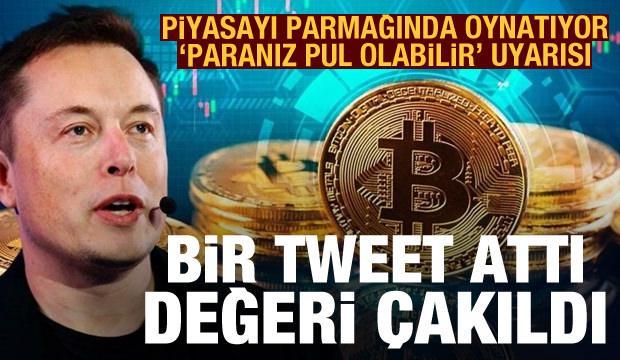 Elon Musk bir tweet attı, Bitcoin çakıldı! 'Paranız pul olabilir' uyarısı