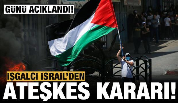İşgalci İsrail'den ateşkes kararı!