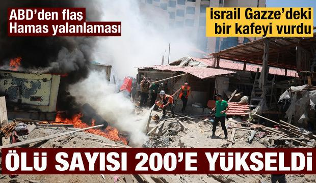 İsrail Gazze sahilindeki bir kafeyi vurdu: ABD'den yalanlama