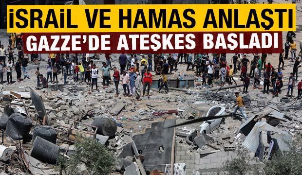 İsrail ile Hamas arasında varılan ateşkes başladı
