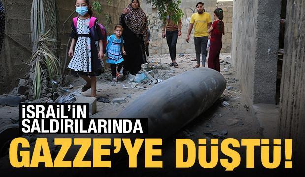 İsrail'in Gazze'ye attığı patlayıcılar görüntülendi!