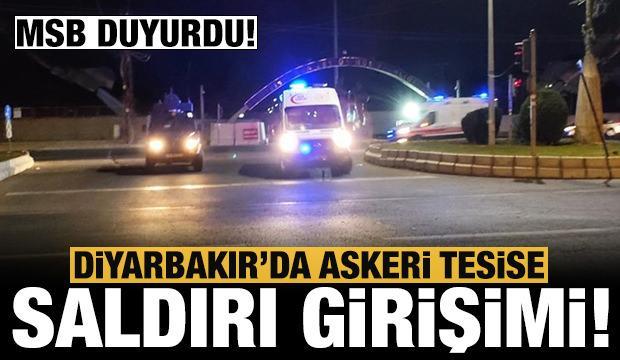 Son dakika: Diyarbakır'da askeri tesise saldırı girişimi