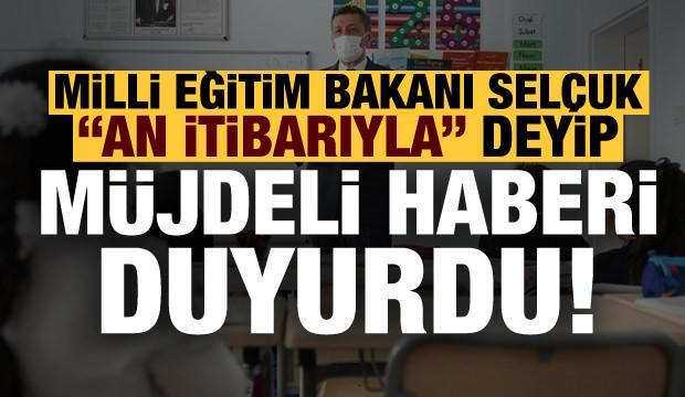 Son dakika: Milli Eğitim Bakanı Ziya Selçuk müjdeli haberi duyurdu!