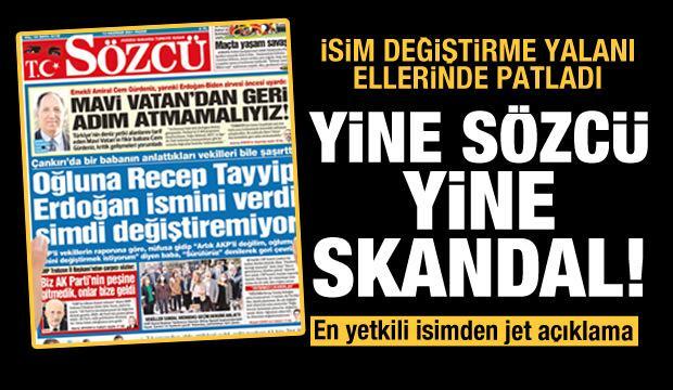 CHP ve Sözcü'nün 'isim değiştirme' yalanı elinde patladı