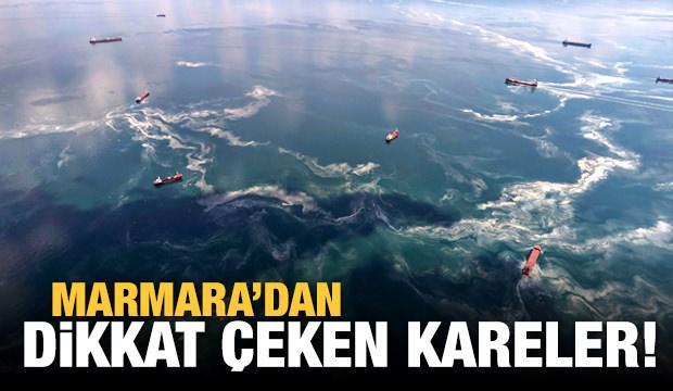 Marmara Denizi'ndeki müsilaj uçakla havadan görüntülendi