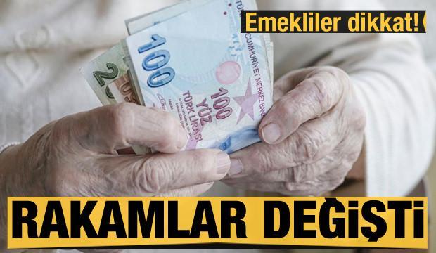 Milyonlarca emekliye müjde! Rakamlar değişti