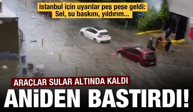 Uyarılar peş peşe!  İstanbul'da gök gürültülü sağanak yağmur!