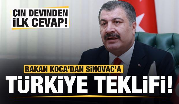 Bakan Koca'dan Sinovac'a Türkiye teklifi! Çin devinden ilk cevap