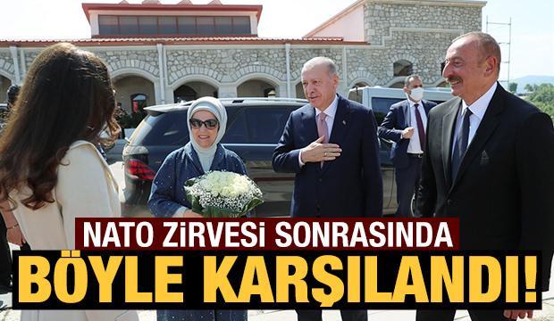 Başkan Erdoğan, tarihi Nato zirvesi sonrası İlham Aliyev ile bir araya geldi