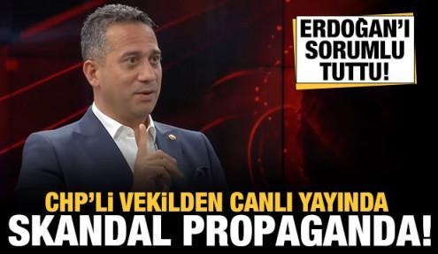 CHP'li milletvekilinden canlı yayında skandal provokasyon!