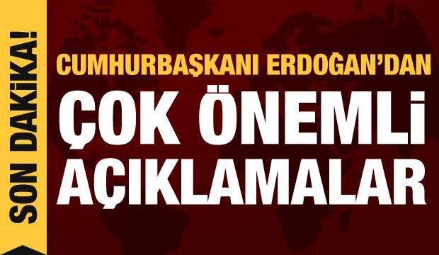 Son dakika haberi: Cumhurbaşkanı Erdoğan konuşuyor