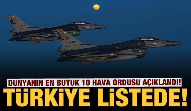 Dünyanın en büyük 10 hava ordusu açıklandı! Türkiye de listede!