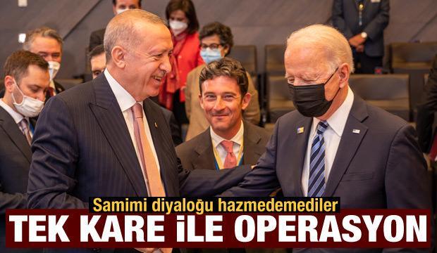 Erdoğan-Biden görüşmesinde kirli algı operasyonu