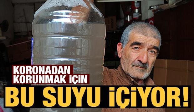 Koronavirüsten korunmak için demir suyu içiyor