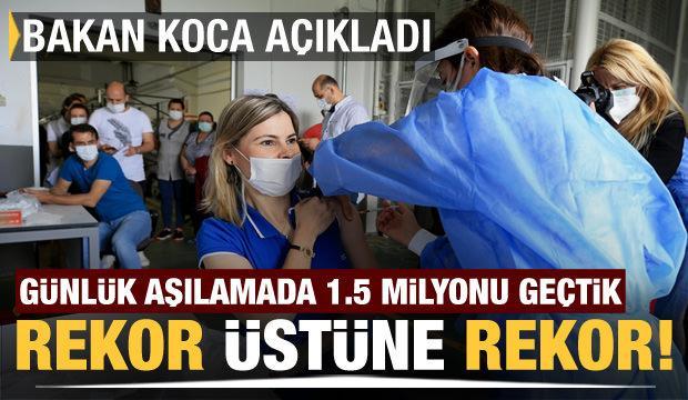 Sağlık Bakanı Fahrettin Koca açıkladı! Aşılamada dünya rekoru kırdık