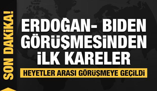 Son dakika: Erdoğan-Biden görüşmesi sona erdi