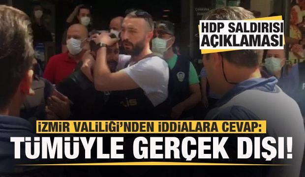 Valilikten HDP saldırısı açıklaması: İddialar tümüyle gerçek dışı