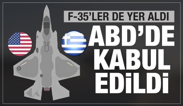 Yunanistan'a askeri doping! F-35 ve milyonlarca dolar...Resmen onaylandı