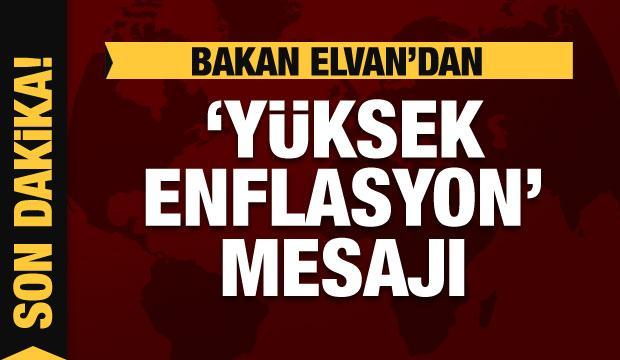 Bakan Elvan'dan yüksek enflasyon mesajı