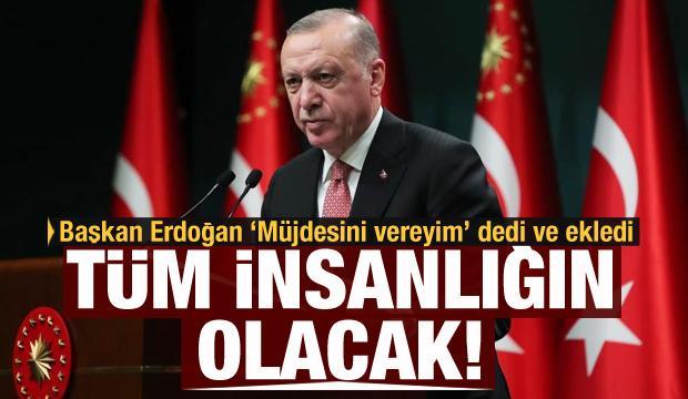 Cumhurbaşkanı Erdoğan'dan milli aşı müjdesi