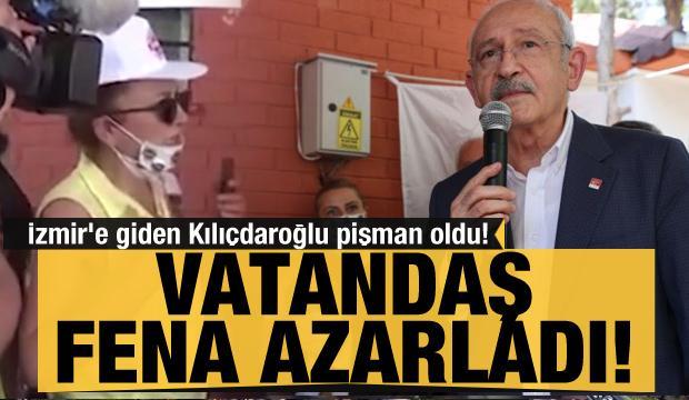 İzmir'e giden Kılıçdaroğlu vatandaştan fena azar yedi
