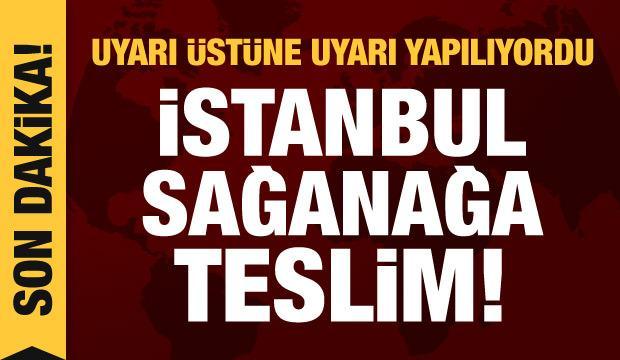 Son dakika haberi: İstanbul'da beklenen yağış başladı