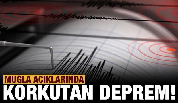 Son dakika: Muğla'da 5.3 büyüklüğünde deprem!