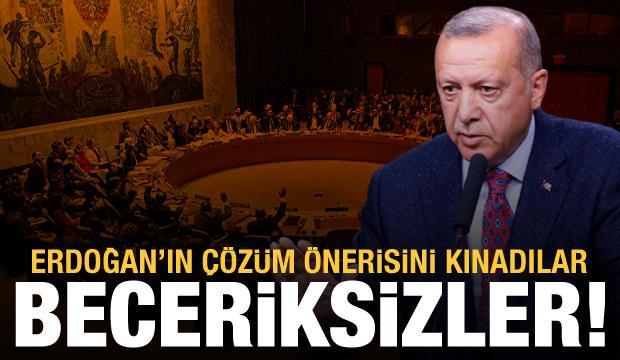 Beceriksiz BMGK, Erdoğan'ın çözüm önerisini kınadı