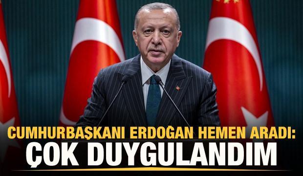 Erdoğan: Sonuna kadar izledim, çok duygulandım...